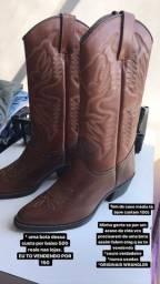 Botas couro legítimo originais Wrangler