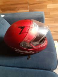capacete helt foro removível com Baveira semi Novo n 58