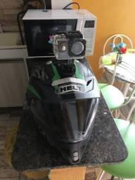 Vendo capacete esportivo com câmera novo