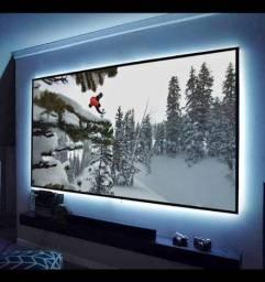 Smart tv projetor 150 polegadas