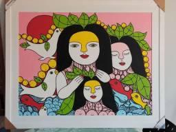 Pintura Exclusiva peça rara apenas 1 disponível no Brasil