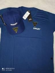 Kit da Oakley camiseta mais boné