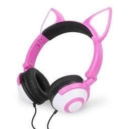 Fone orelha de gato LED