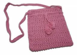 Bolsa artesanal de crochê