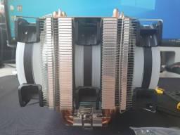 CPU Cooler Triplo Fan RGB com 6 heatpipes Intel Amd Xeon Lga 2011 1155 Am3+ Am4