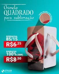 Chinelo Quadrado para sublimação 85/15 borracha