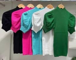 Blusa tricô modal