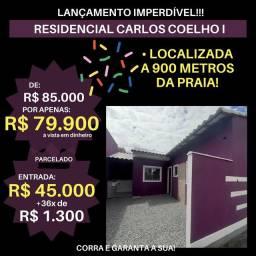 WCód: 541 LINDAS CASAS DIRETAMENTE NA PLANTA - NOVO RESIDENCIAL CARLOS COELHO I