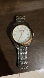 Relógio Magnum Prata Quartz water 100M Resist