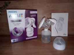 Extrator/bomba manual de leite materno, copo de armazenamento e bolsas térmicas