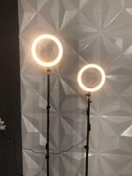 Ring light + tripé