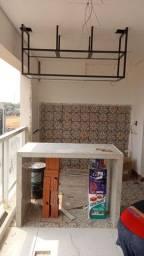 Estruturas aéreas  para cozinha e sala de estar