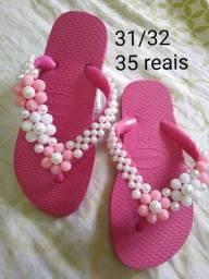 Crochê e sandálias
