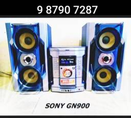 Som mini system Sony 550w rms duplo woofer tweeter corneta