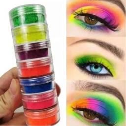 Torre Sombra Neon Carnaval Luz Negra 6 Cores Maquiagem Unha