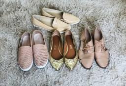 Lote calçados Fem. 37 e 38 (Arezzo, Santa Lolla e usaflex)