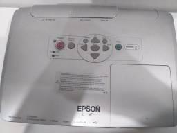 Projetor Epson, lâmpada nova e adaptador HDMI