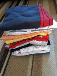 Lote 10 pçs roupas infantil tamanho 6 ,8