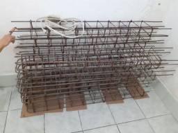 Ferragem para construção de colunas