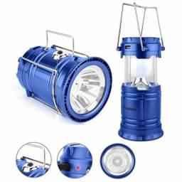Lampião Lamparina Lanterna Led Solar Para Aventuras Noturnas