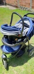 Carrinho 3 rodas + bebê conforto