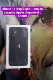 IPhone 11 64g Black 1 ano de garantia