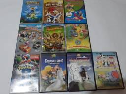 DVDS GASPARZINHO,POKÉMON,MADAGASCAR 2,PICA PAU ETC.