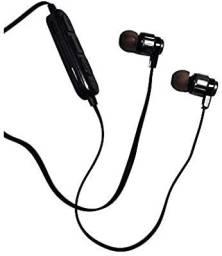 Fone de Ouvido Bluetooth Intra-Auricular Esportivo preto