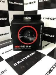 Fone De Ouvido Bluetooth Mini 503 Mp3 Cartão Divido no cartão Fazemos entrega