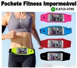 Pochete Fitness Impermeável Porta Celular Até 5.5 Polegadas Porta Chaves
