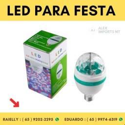 Lampada para festa Led Full Color Rotating Lamp E27 Bivolt 3w Luz Balada