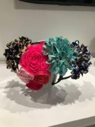 Lote 4 tiaras flores