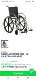 Cadeira de rodas, higiênica e colchão pneumática