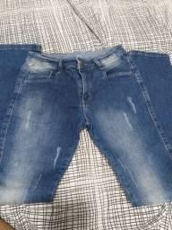 Calça jeans infantil tamanho 10 hot dog