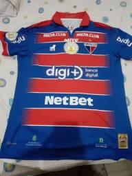Camisa oficial  de jogo do fortaleza usada pelo jogador Nathan Ribeiro contra o cruzeiro.