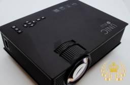Mini Projetor Wifi Led 120 Polegadas 1800 Lumens Hdmi - Bivolt 110/220v