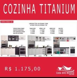 Cozinha titanum aço