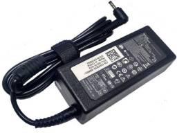 (NOVO) Fonte Notebook Dell carregador 19.5v 3.34a 65w - 4.0mm X 1.7mm
