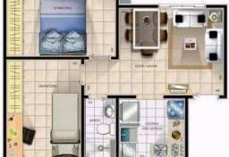 Apartamento 2 quartos - Jardim Paradiso Alpínia - R$ 110.000,00 - Financia