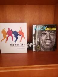 Box The Beatles e Livro Mick jagger