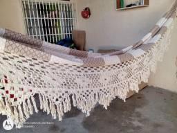 Rede casal com varanda feita à mão
