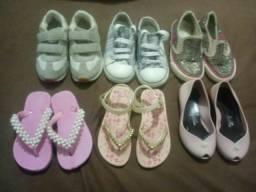 Lote de calçados  meninas  números  23