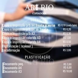 Impressão e Cópia 0,10 (P/B) - Art Rio Copiadora