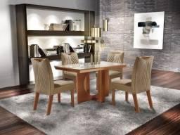 Mesa de Jantar Frisa C/ 4 cadeiras 100% MDF