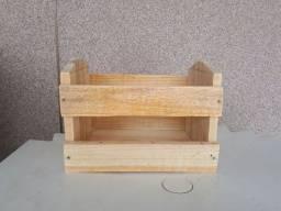 Caixa porta toalha de madeira Rustica