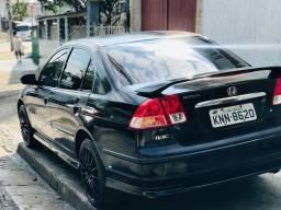 Troco Honda Civic preto 2002 em moto de 600 cilindradas acima