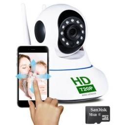 Câmera Rotativa 360° Ip Visão Noturna Wifi HD Promocao