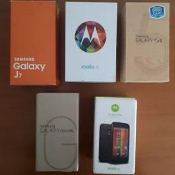 Caixas Smartphone Samsung Galaxy Moto X Moto G
