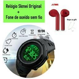 Promoção: Relógio Original + Fone sem fio Bluetooth