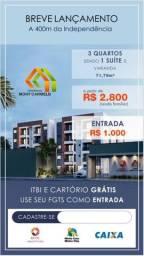 Condomínio Monte Carmelo, 3 quartos, sendo 1 suite e varanda